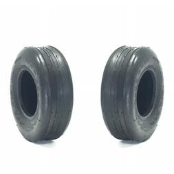 11x4.00-5 Tubeless Ribbed Tires 4PR Pair of New Tires FREE S