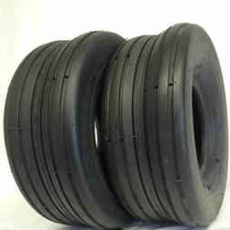 2 - 13X5.00-6 4 Ply Rib Lawn Mower Tires PAIR 13 500 6 RIB