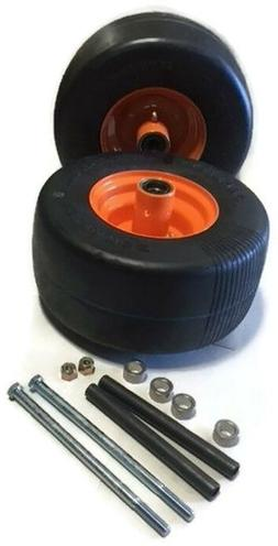 2 Caster Wheel with Hardware For SOME Scag Mowers Front Soli