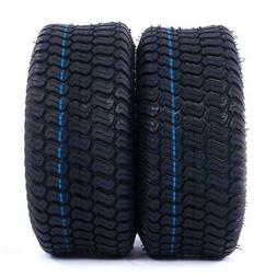 2 TIRES Tubeless 15x6.00-6 Turf Tires 4Ply Lawn Mower Tracto