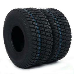 2pcs  TIRES Tubeless 15x6.00-6 4 Ply Rated Turf Tires Lawn M