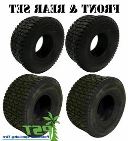FULL MATCHING SET  Lawn  Mower Tires 15x6.00-6 and 20x8.00-8