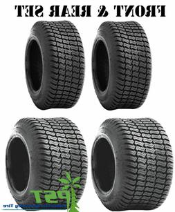 FULL MATCHING SET  Lawn  Mower Tires 15x6.00-6 and 20x10.00-