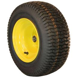 New 16x6.50-8 ATW Turf Tire on John Deere Lawn Tractor Front