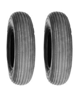 Pack of 2, Deli Tire 3.00-4  4 Ply Tubeless Mobility Rib Tre
