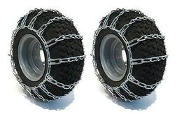 PAIR 2 Link TIRE CHAINS 18x9.50x8 for Sears Craftsman Lawn M