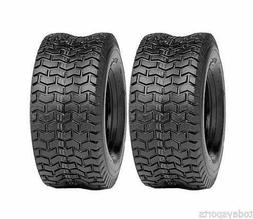 Set of 2, 15x6.00-6, Turf Tires, 4 Ply, Tubeless, Lawn Mower