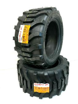 TWO 18x8.50-10 Lug Traction Lawn Tractor Tires 18 8.50 10 R-
