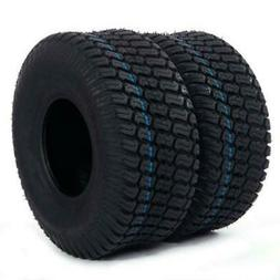 TWO TIRES 15x6.00-6 Turf Tires 4 Ply Lawn Mower Tractor w/wa